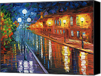 Oil Lamp Canvas Prints - Midnight City Canvas Print by Ash Hussein