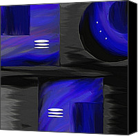 Expressionism Canvas Prints - Midnight Canvas Print by Ely Arsha