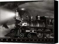 Locomotive Canvas Prints - Midnight Flyer Canvas Print by Tom Mc Nemar