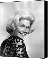 1960 Movies Canvas Prints - Midnight Lace, Doris Day, 1960 Canvas Print by Everett