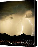 "\""striking Photography\\\"" Canvas Prints - Midnight Lightning Storm Canvas Print by James Bo Insogna"