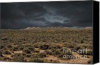 Prairie Photography Canvas Prints - Midnight on the Pairie in Wyoming Canvas Print by Donna Van Vlack