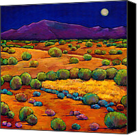 Santa Fe Canvas Prints - Midnight Sagebrush Canvas Print by Johnathan Harris
