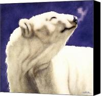 Polar Bear Canvas Prints - Midnight son... Canvas Print by Will Bullas