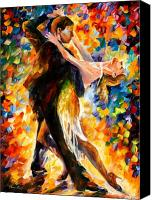 Tango Canvas Prints - Midnight Tango Canvas Print by Leonid Afremov