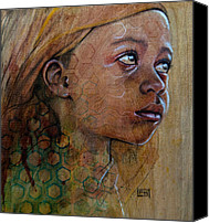 Pyrography Canvas Prints - Miel Canvas Print by Fay Helfer-Hale