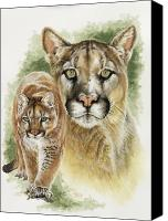 Wildcats Canvas Prints - Mighty Canvas Print by Barbara Keith