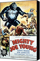 1949 Movies Canvas Prints - Mighty Joe Young, 1949 Canvas Print by Everett