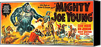 Horror Fantasy Movies Canvas Prints - Mighty Joe Young, Banner Poster Art Canvas Print by Everett