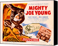 1949 Movies Canvas Prints - Mighty Joe Young, Terry Moore, 1949 Canvas Print by Everett