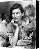Family Farm Canvas Prints - Migrant Mother, 1936 Canvas Print by Granger