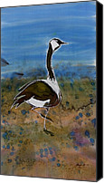Wild Tapestries - Textiles Canvas Prints - Migration Series Geese Canvas Print by Carolyn Doe