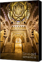 Great Mosque Canvas Prints - Mihrab and Ceiling of Mezquita in Cordoba Canvas Print by Artur Bogacki