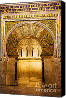 Great Mosque Canvas Prints - Mihrab in the Great Mosque of Cordoba Canvas Print by Artur Bogacki