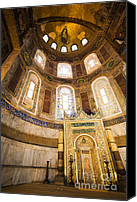 Sofia Canvas Prints - Mihrab in the Hagia Sophia Canvas Print by Artur Bogacki