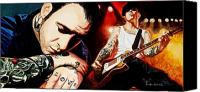 Social Canvas Prints - Mike Ness Nuff Said Canvas Print by Al  Molina