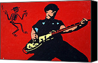 Mike Painting Canvas Prints - Mike Ness Canvas Print by Steven Sloan