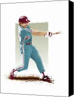 All Star Digital Art Canvas Prints - Mike Schmidt Canvas Print by Scott Weigner