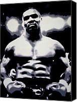 Mike Painting Canvas Prints - Mike Tyson Canvas Print by Luis Ludzska