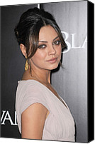 Gold Earrings Photo Canvas Prints - Mila Kunis At Arrivals For Black Swan Canvas Print by Everett