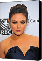 Updo Canvas Prints - Mila Kunis At Arrivals For Ifps 20th Canvas Print by Everett