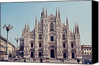 Saint Mary Canvas Prints - Milan Cathedral Canvas Print by Benjamin Matthijs
