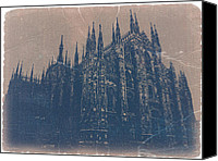 Goth Canvas Prints - Milan Cathedral Canvas Print by Irina  March