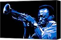 Blues Digital Art Canvas Prints - Miles Davis Canvas Print by Dean Caminiti