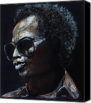 Artists Canvas Prints - Miles Davis Canvas Print by Frances Marino