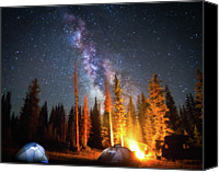 Camping Canvas Prints - Milky Way Canvas Print by William Church - Summit42.com