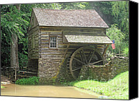 Old Mills Canvas Prints - Mill at Cuttalossa Farm Canvas Print by Louise Peardon