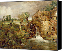 Peasant Canvas Prints - Mill at Gillingham - Dorset Canvas Print by John Constable