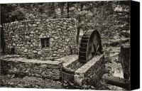 Belmont Canvas Prints - Mill Creek Water Wheel Canvas Print by Bill Cannon
