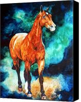 Foal Painting Canvas Prints - Millcreek Raphael Canvas Print by Hanne Lore Koehler