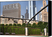 Sears Tower Canvas Prints - Millenium Park - 1 Canvas Print by Ely Arsha