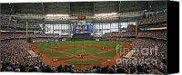 League Photo Canvas Prints - Miller Park Canvas Print by Steve Sturgill