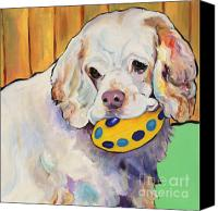 Animal Greeting Card Canvas Prints - Millie Canvas Print by Pat Saunders-White