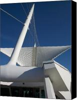 Comtemporary Canvas Prints - Milwaukee Art Museum cropped Canvas Print by Anita Burgermeister