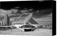 Art Museum Canvas Prints - Milwaukee Art Museum Infrared Canvas Print by Steve Sturgill