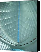 Comtemporary Canvas Prints - Milwaukee Art Museum interior Canvas Print by Anita Burgermeister