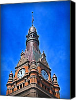 Terra Cotta Digital Art Canvas Prints - Milwaukee City Hall Canvas Print by Geoff Strehlow