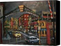 Urban Landscape Canvas Prints - Milwaukees Historic Third Ward Canvas Print by Tom Shropshire