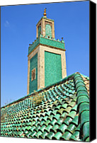 Morocco Canvas Prints - Minaret Of Grand Mosque Canvas Print by Kelly Cheng Travel Photography