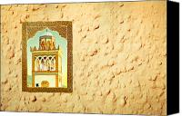Moroccan Canvas Prints - Minaret through a window Canvas Print by Tom Gowanlock