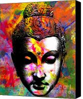 Face Digital Art Canvas Prints - Mind Canvas Print by Ramneek Narang