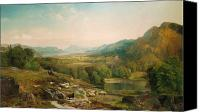 Hillside Canvas Prints - Minding the Flock Canvas Print by Thomas Moran