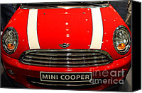 Transportation Tapestries Textiles Canvas Prints - Mini Cooper . 7D9534 Canvas Print by Wingsdomain Art and Photography