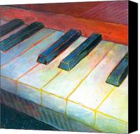 Classical Musical Art Canvas Prints - Mini Keyboard Canvas Print by Susanne Clark