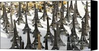 Capital City Canvas Prints - Miniature Eiffel Tower souvenir. Paris. France Canvas Print by Bernard Jaubert