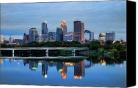 Mississippi River Canvas Prints - Minneapolis Reflections Canvas Print by Rick Berk